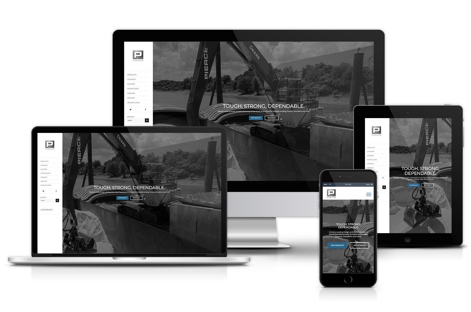 Pierce Pacific Manufacturing Website